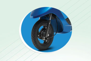 TVS Scooty Pep Plus Front Tyre View