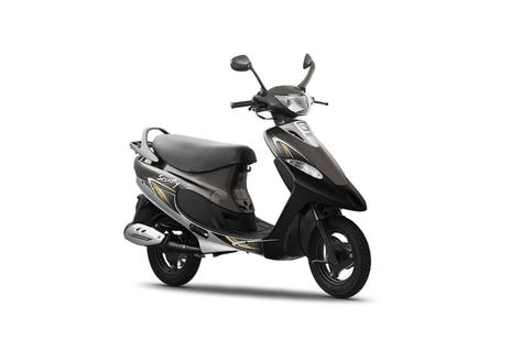TVS Scooty Pep Plus Frosted Black