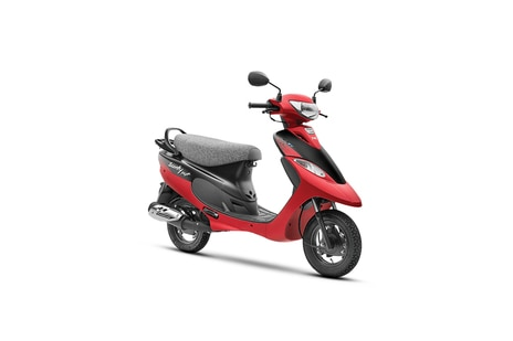 TVS Scooty Pep Plus Coral Red