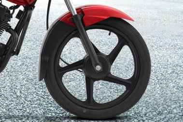 TVS Sport Front Tyre View