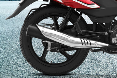 TVS Sport Rear Tyre View