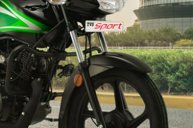TVS Sport Front Mudguard & Suspension