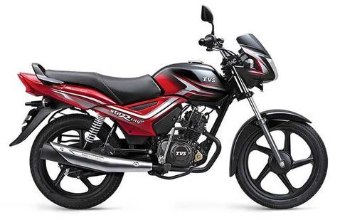 TVS Star City Plus Black and Red
