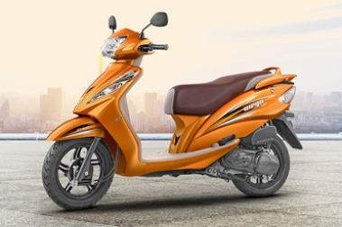 TVS Wego Front Left View