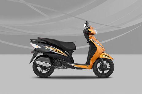 TVS Wego Orange Black