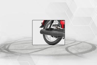 TVS XL100 Rear Tyre View