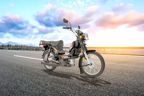 TVS XL100 Front Right View