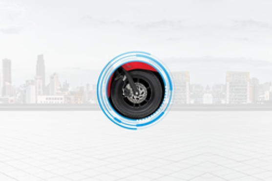 Yamaha Fascino 125 Front Tyre View
