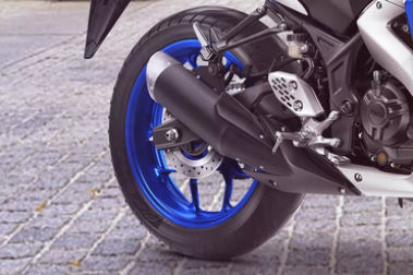 Yamaha YZF R3 Rear Tyre View