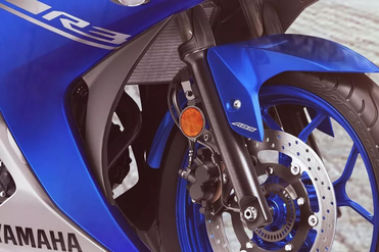 Yamaha YZF R3 Front Suspension View
