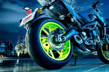 Yamaha MT 09 (2016-2020) Rear Tyre View