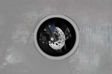 Yamaha Ray ZR Front Brake View