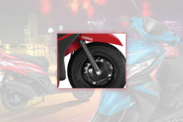 Yamaha Ray Z Front Tyre View