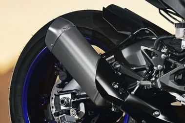 Yamaha YZF R1 Exhaust View