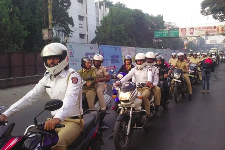 Helmet Rally Organised In Pune To Create Awareness On Road Safety