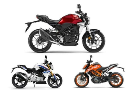 Honda CB300R Vs KTM 390 Duke Vs BMW G310R: Spec Comparo