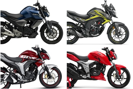 Yamaha FZ-S Fi Version 3.0 Vs TVS Apache RTR 160 4V (Fi) Vs Honda CB Hornet 160R Vs Suzuki Gixxer: Spec Comparison