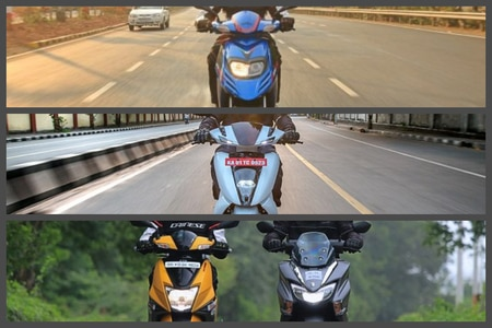 Ather 450 Vs TVS Ntorq 125 Vs Suzuki Burgman Street Vs Aprilia SR 125: Real World Performance Compared