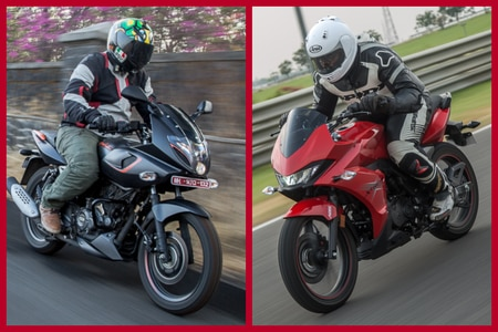 Bajaj Pulsar 180F Vs Hero Xtreme 200S: Image Comparison