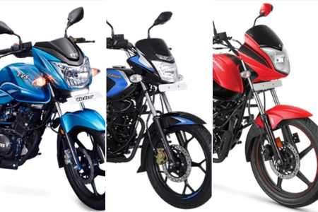 Title TVS Victor vs Bajaj Platina 110 H-Gear  vs Hero Splendor iSmart BS6: Spec Comparison