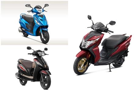 Honda Dio BS6 vs TVS Wego vs Hero Maestro Edge: Spec Comparison