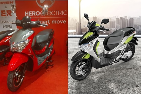 These Hero Electric Two-wheelers Look Awfully Similar To Honda's Offerings