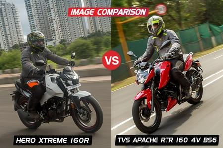 Hero Xtreme 160R vs TVS Apache RTR 160 4V BS6: Image Comparison
