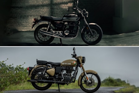 Honda Highness CB350 vs Royal Enfield Classic 350: Image Comparison