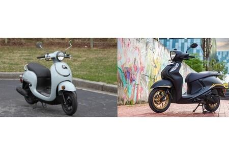 2022 Honda Metropolitan vs Yamaha Fascino 125 Fi Hybrid: Photo Comparison
