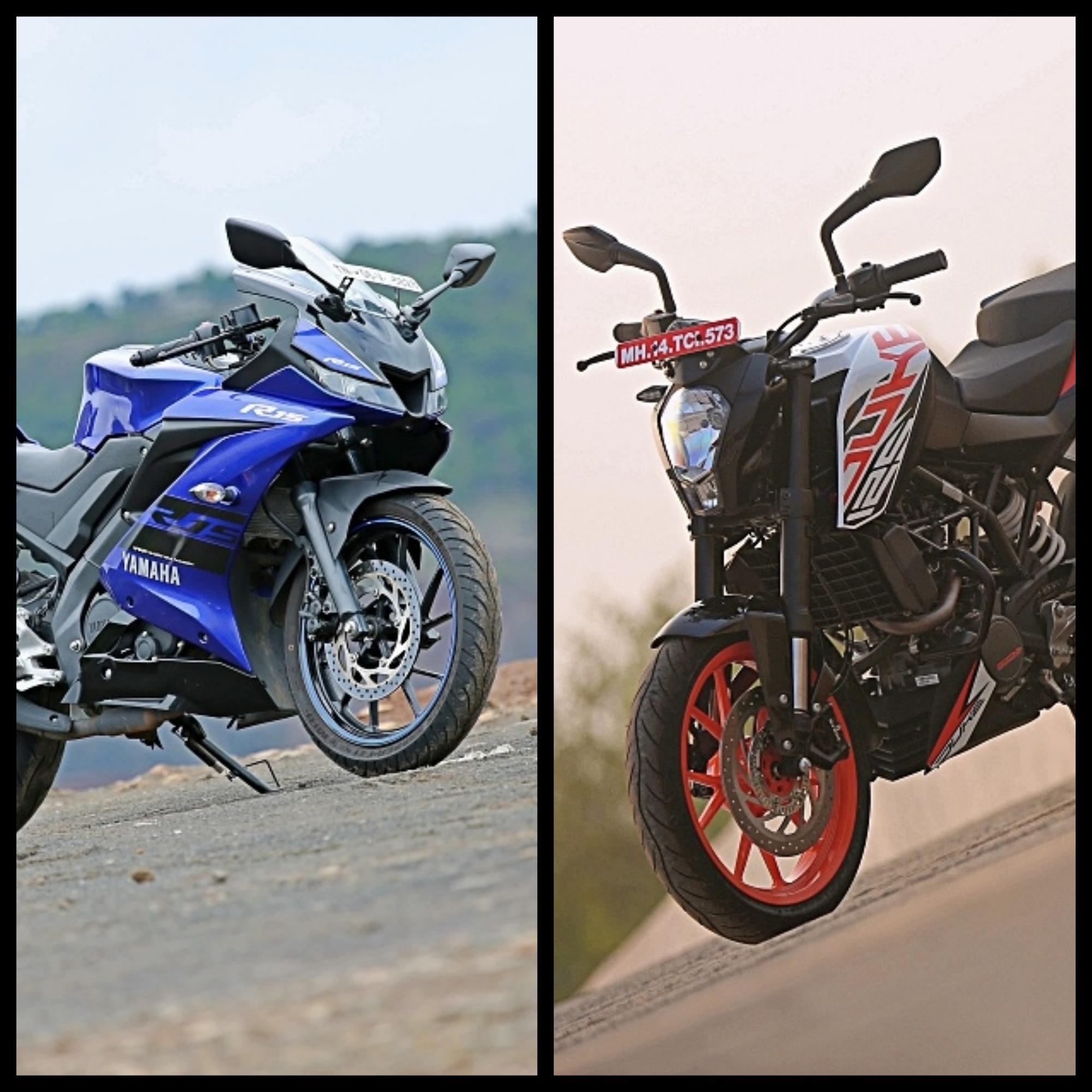 Bajaj Pulsar 220 F vs Yamaha YZF R15 V3 - Know Which is Better