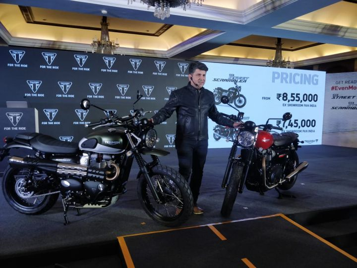 Triumph Launches Street Twin and Street Scrambler In India