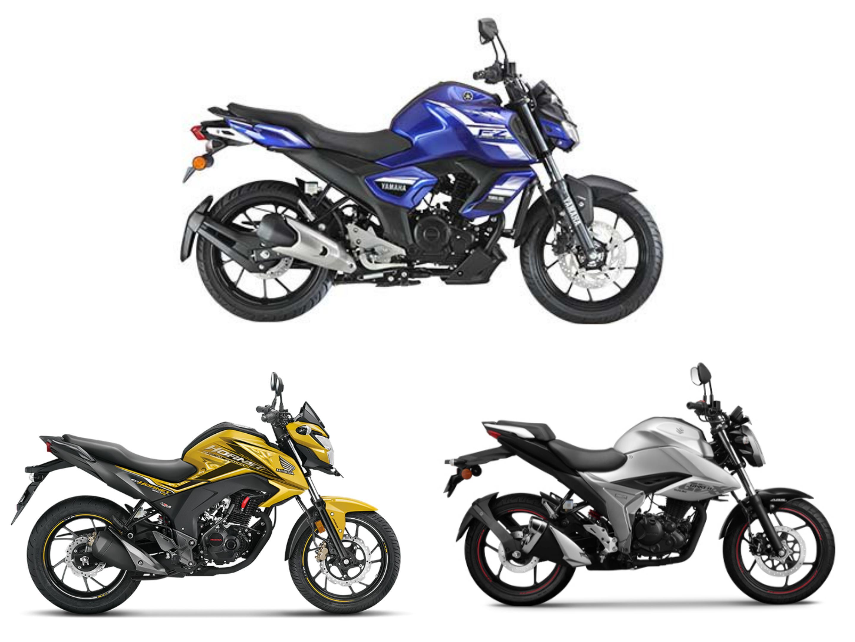 BS6 Yamaha FZS-Fi vs Honda CB Hornet 160R vs Suzuki Gixxer: Specification Comparison