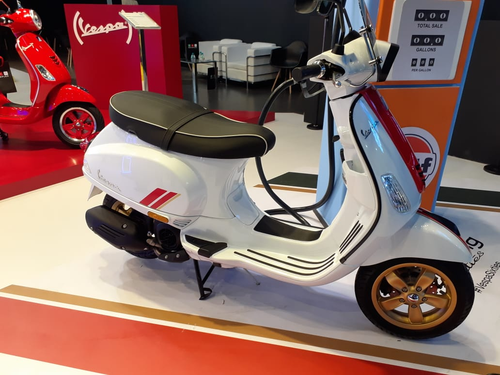 New Vespa Racing Sixties Scooter Unveiled At Auto Expo 2020