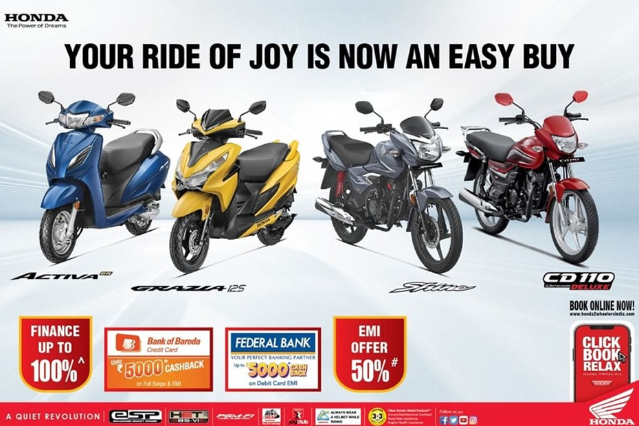 Festive Offers For Honda Activa 6G, Grazia 125, Shine And CD110 Dream Announced