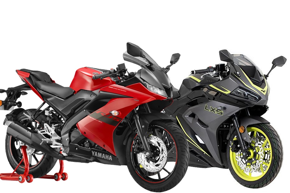 Lexmoto LXS 125 vs Yamaha YZF-R15 V3: Image Comparison