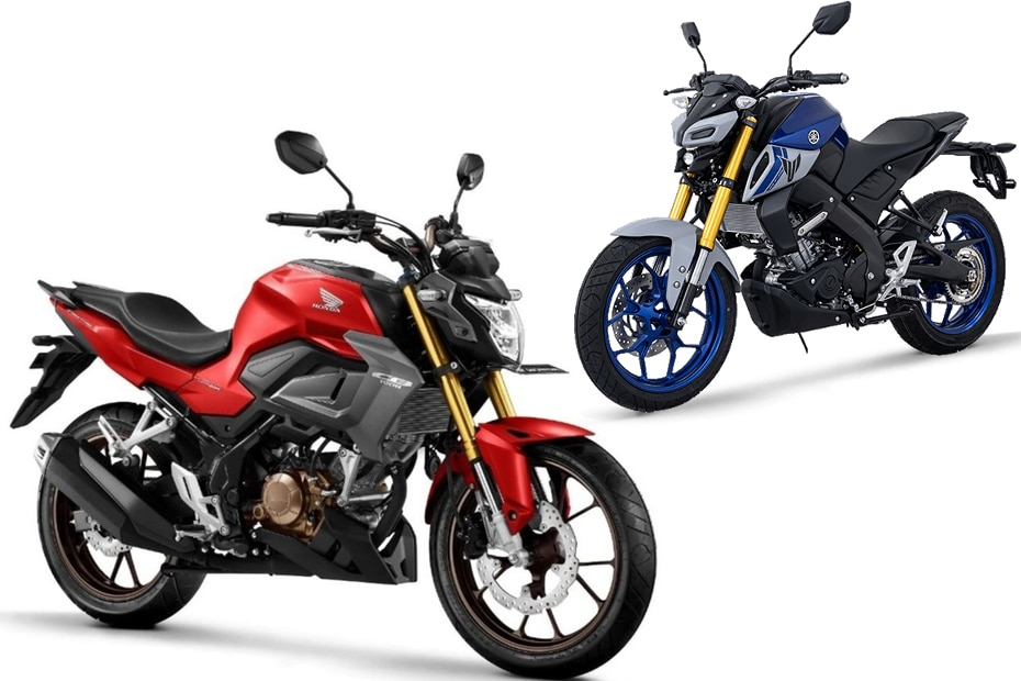 2021 Honda CB150R Streetfire vs Yamaha MT-15: Image Comparison