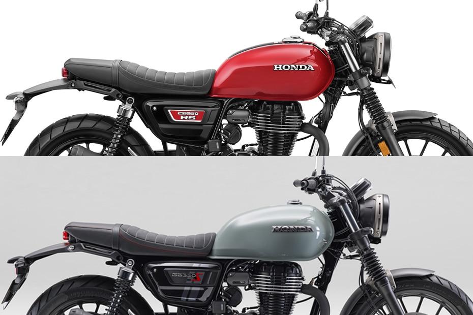 Honda CB350RS vs GB350S: Image Comparison