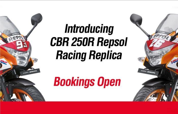Honda Unveils New CBR 250R Repsol Racing Replica Limited Edition