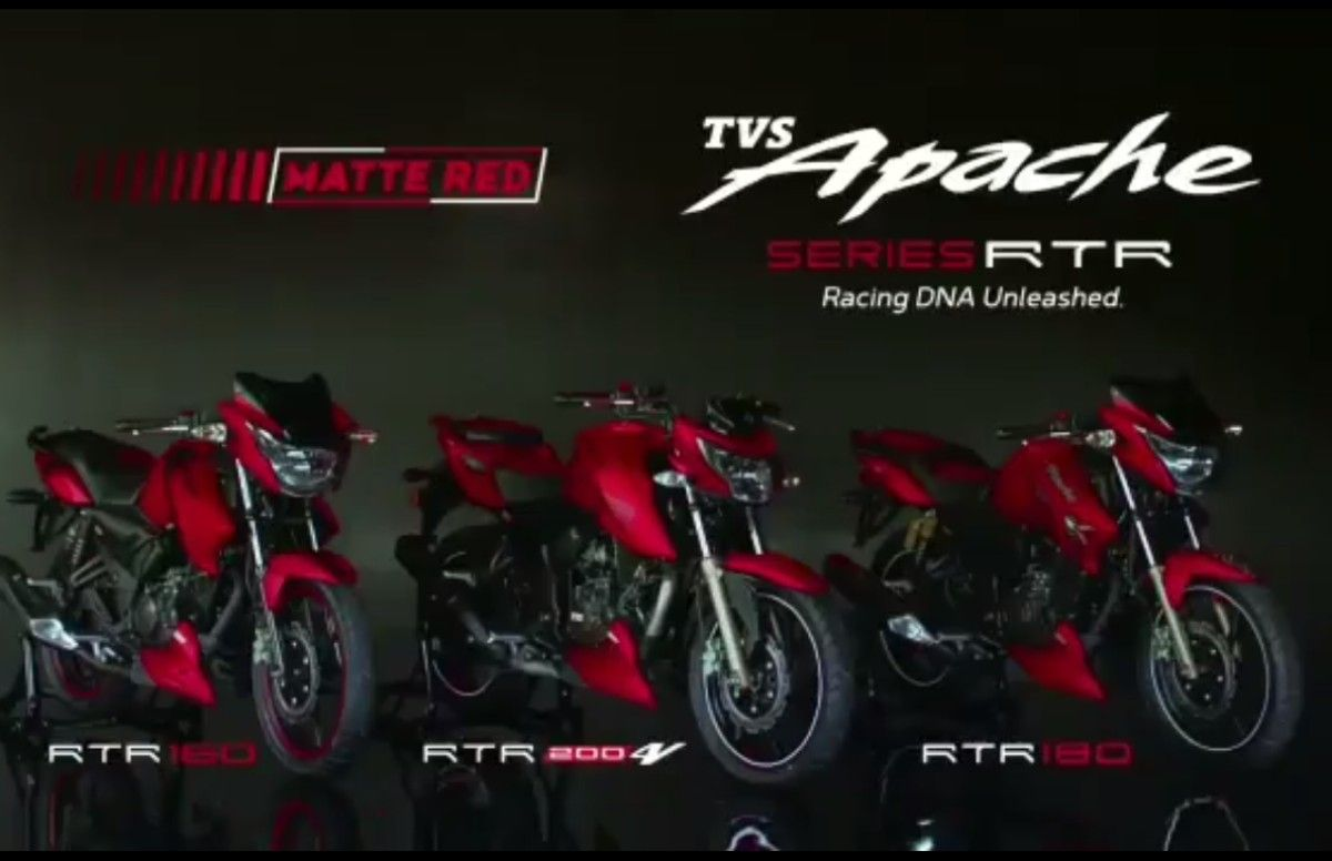 TVS Launches The Apache RTR Series In New Matte Red Colour