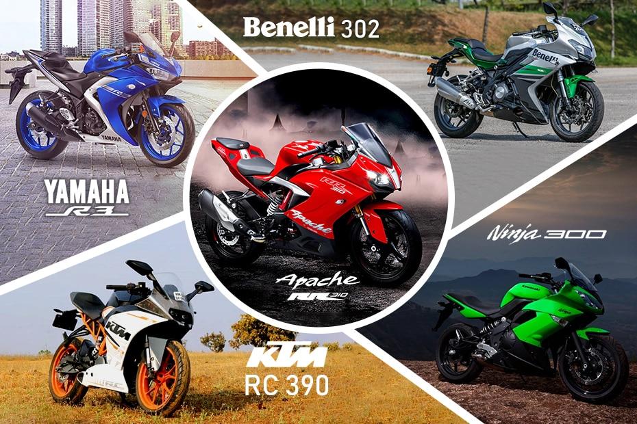 Yamaha R3 Vs Benelli 302r Vs Tvs Apache Rr 310 Vs Ktm Rc 390 Vs
