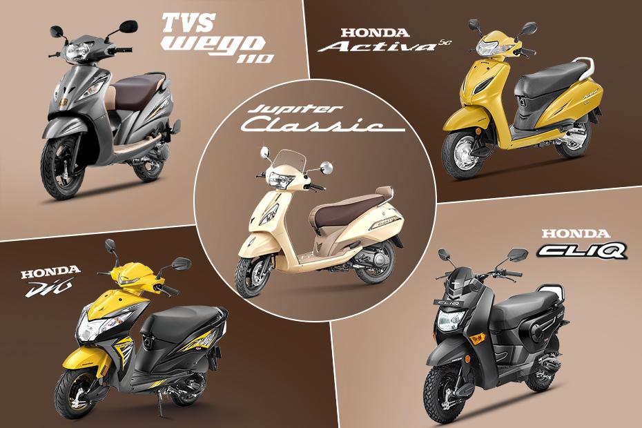 Honda Activa 5g Vs Tvs Jupiter Classic Vs Tvs Wego Vs