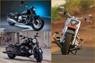 BMW R18 vs Harley Davidson Fat Boy 114 Anniversary vs Indian Chief Dark Horse: Image Comparison