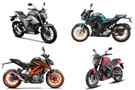 Suzuki Gixxer 250 BS6 vs Yamaha FZ 25 BS6 vs Bajaj Dominar 250 BS6 vs KTM 250 Duke BS6 vs Husqvarna Svartpilen 250: Spec Comparison