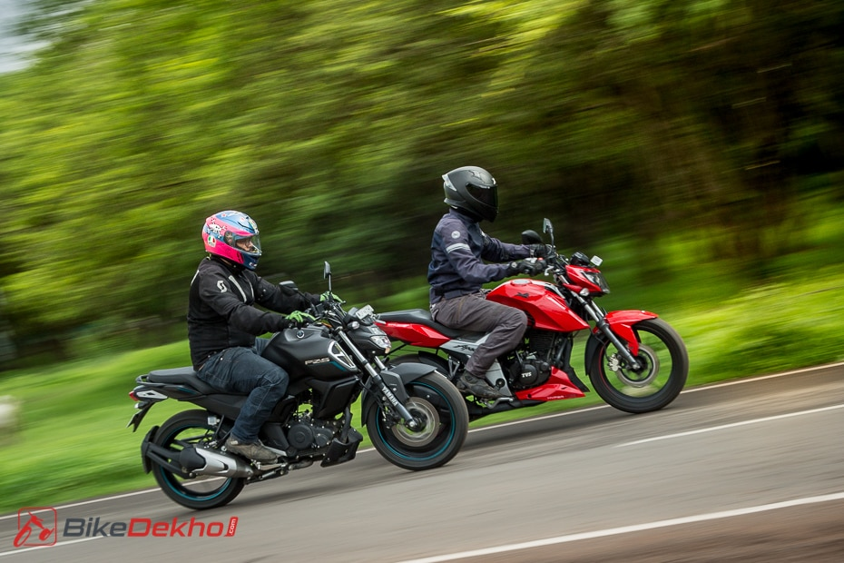 Yamaha FZS-Fi vs TVS Apache RTR 160 4V: Road Test Comparison
