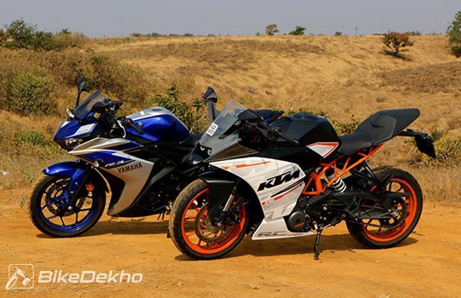 Comparison: Yamaha YZF-R3 vs KTM RC390