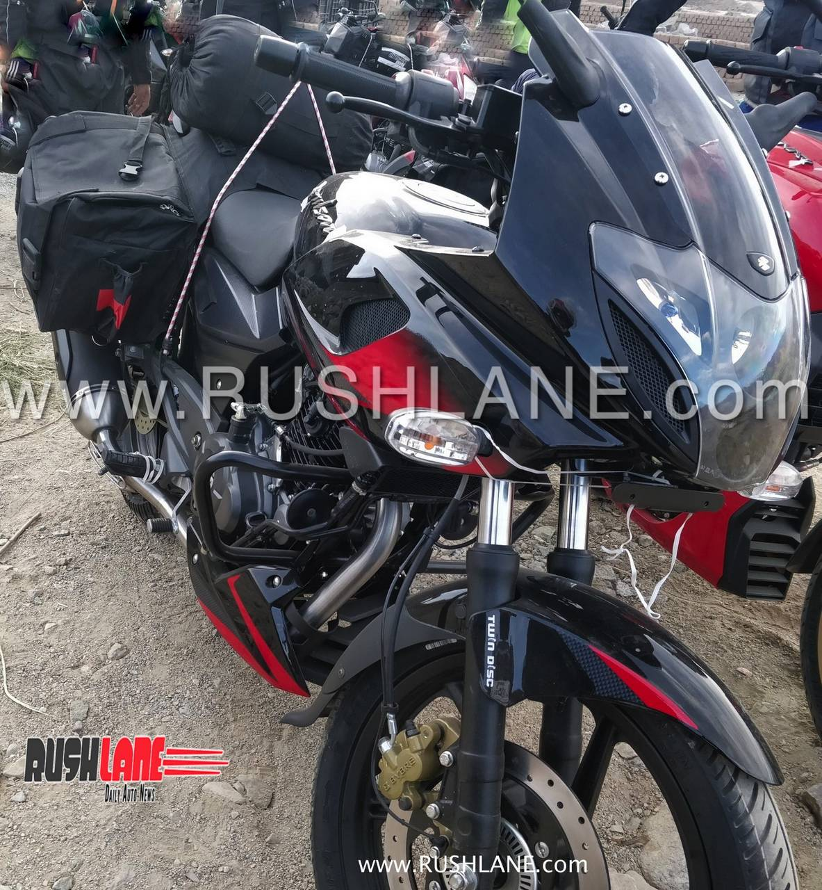 Bajajs long standing touring friendly pulsar the 220f has been spotted testing with abs apart from the safety feature the motorcycle also sports an