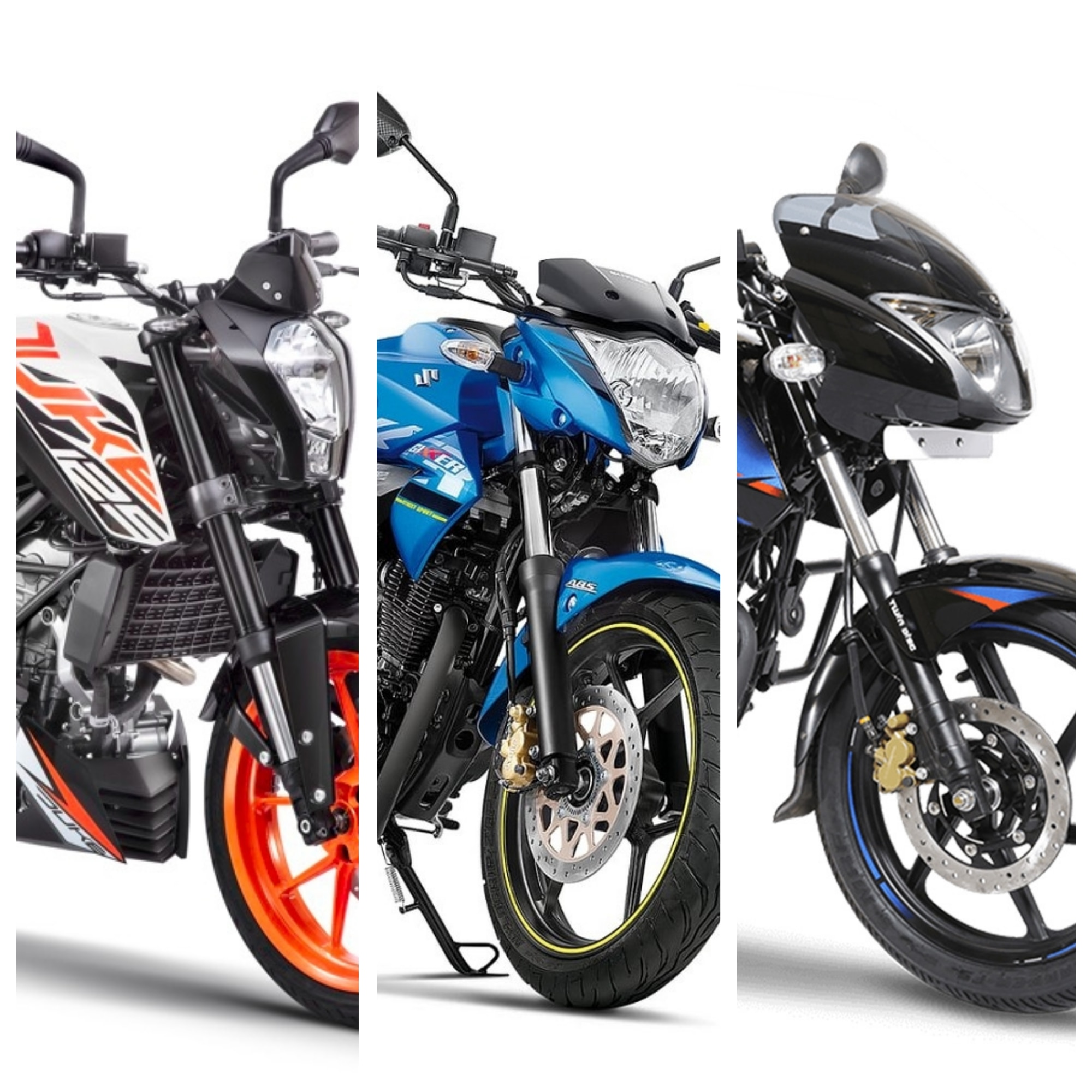 KTM 125 Duke vs Suzuki Gixxer vs Bajaj Pulsar 150: Spec Comparison