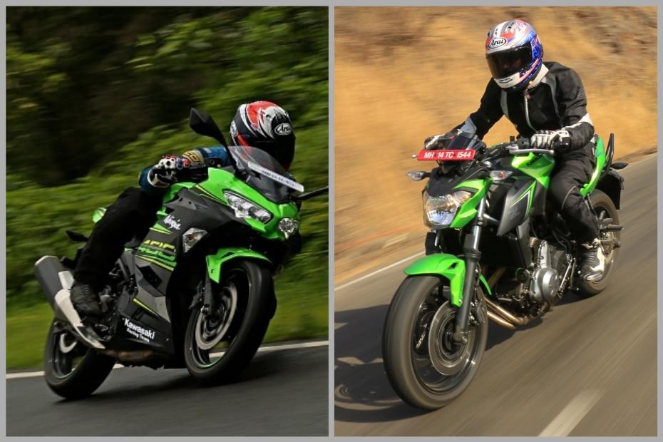 Family Feud Kawasaki Ninja 400 Vs Z650 Spec Comparison Bikedekho