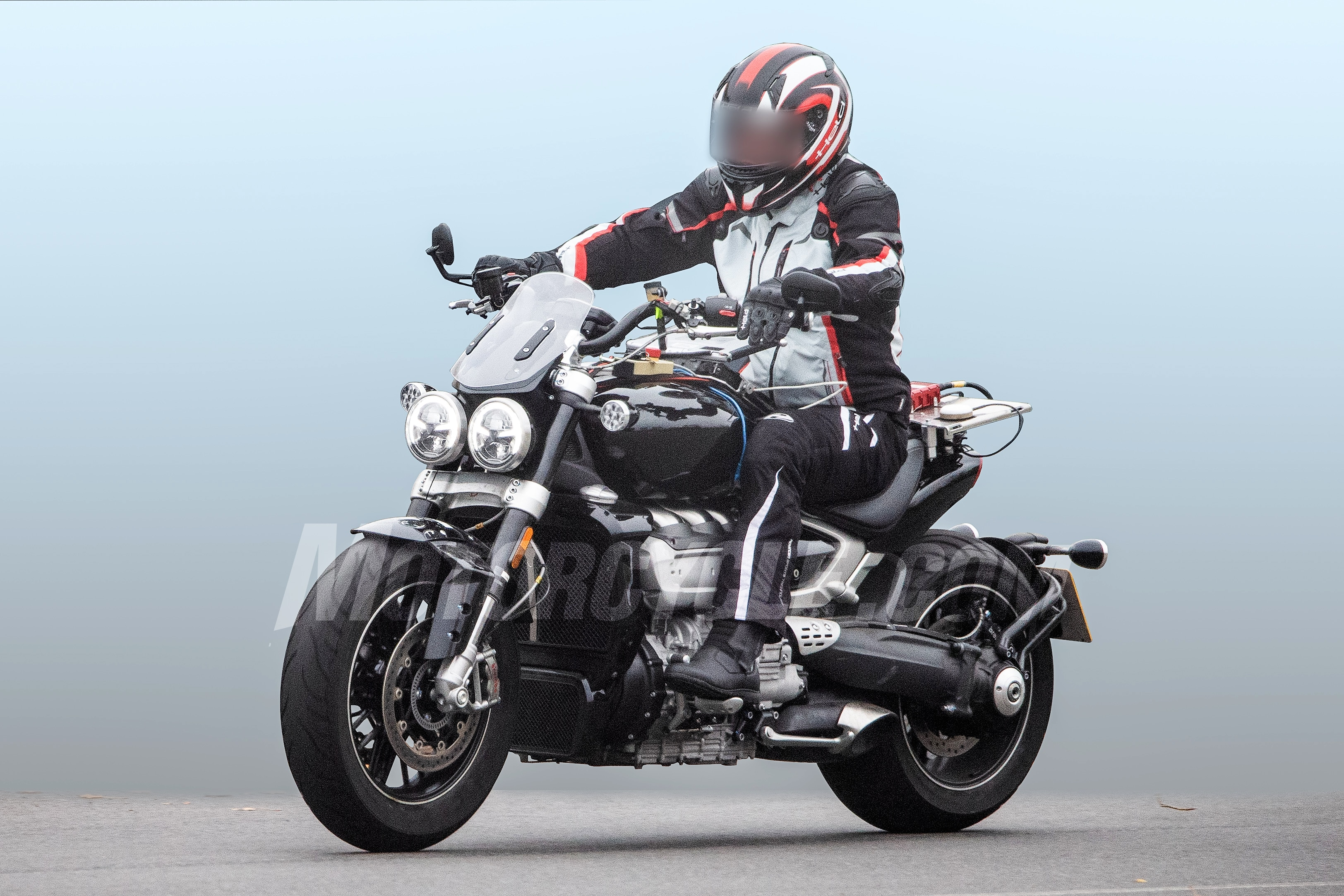 All New Triumph Rocket Iii Spied Testing Bikedekho