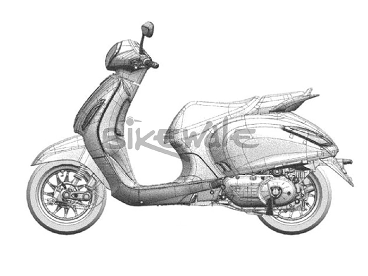 Design Sketches Of New Bajaj Scooter Surface Online | Gaadi